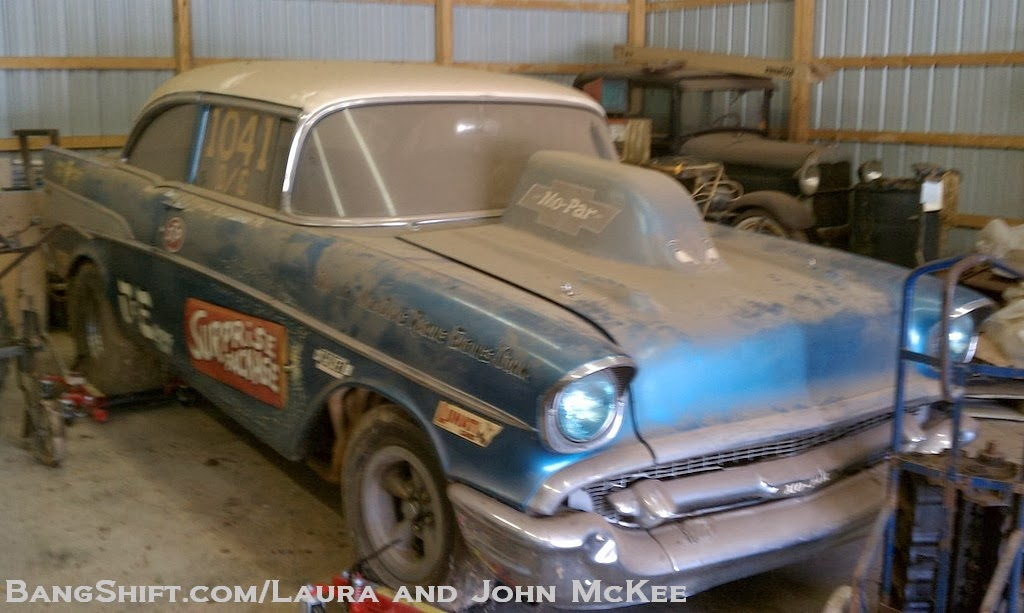 Just A Car Guy: owner/drag racer sells off his barn kept 57 Chev ...