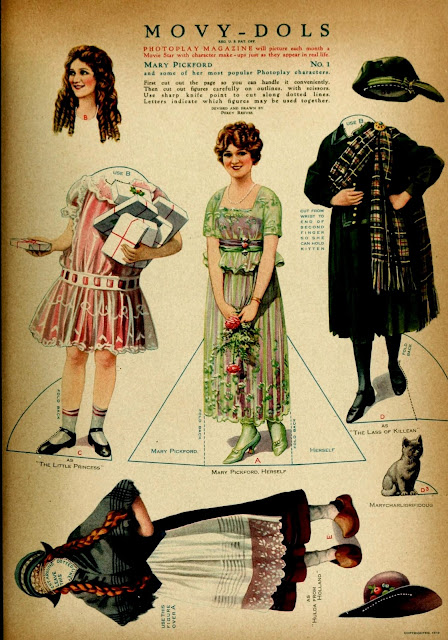 mary pickford paper doll