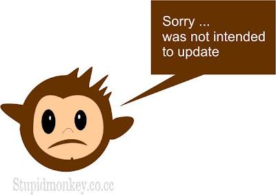 Monyetnya lagi males