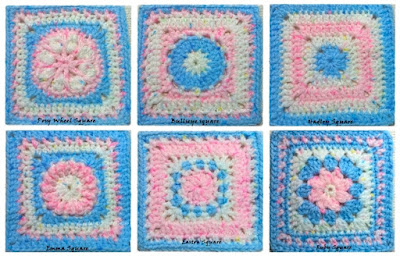 blocks squares CAL baby easy cute afghan pretty