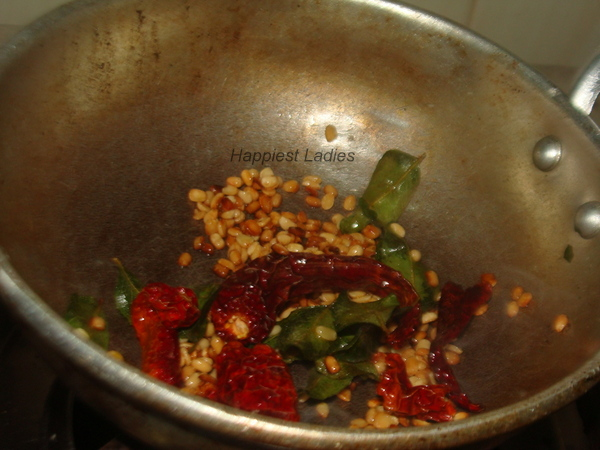 Frying Seasoning  for vitamin leaves chutney+indian cooking