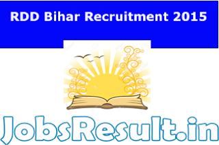 RDD Bihar Recruitment 2015