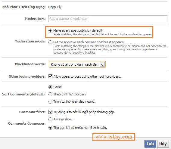 Cách tạo facebook comment và quản lý 3
