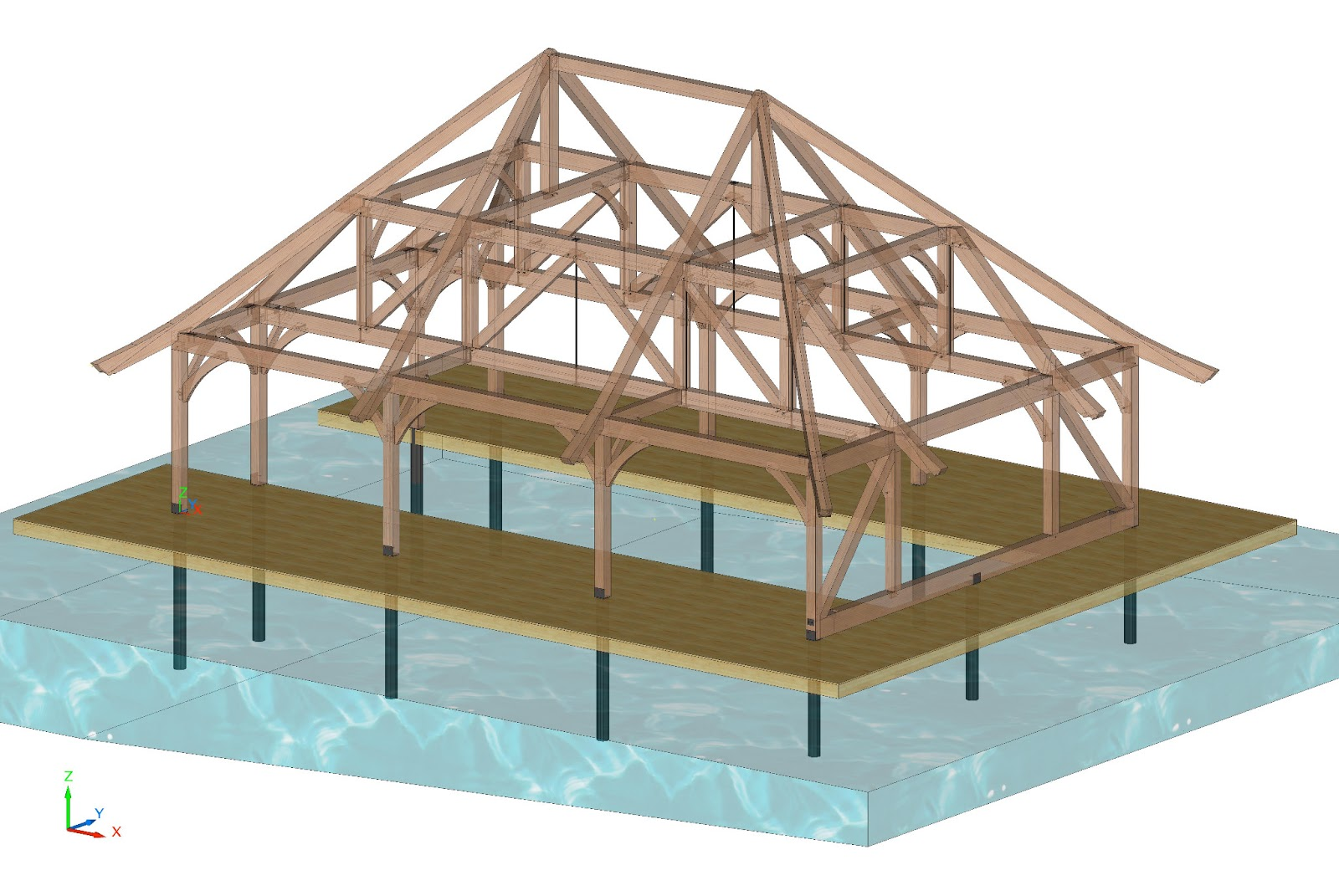 Timber Frame Design Timber Frame Boathouse