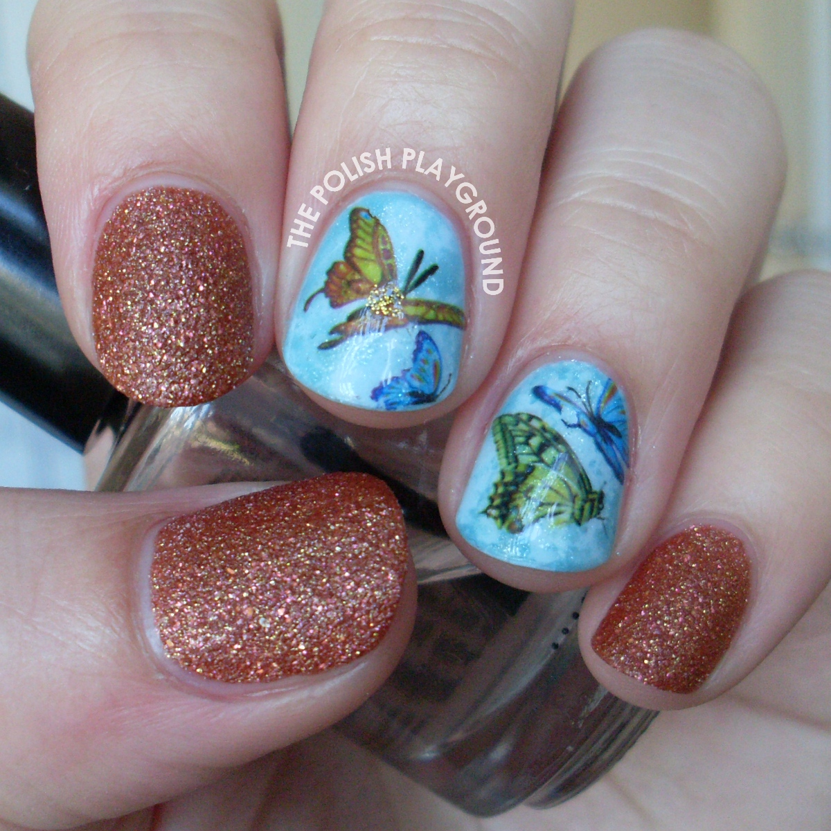 Vibrant Butterfly Water Nail Decals Nail Art
