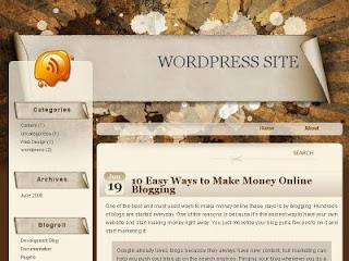 Grunge Paper Blogger template