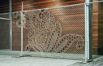 the little road said go an artful spin on chain link. Black Bedroom Furniture Sets. Home Design Ideas