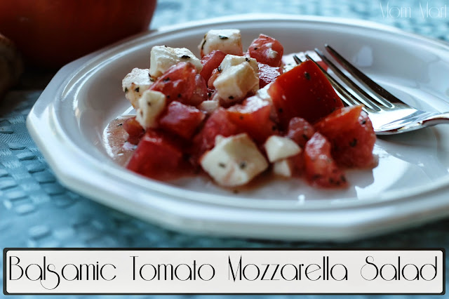 Balsamic Tomato Mozzarella Salad #Recipe