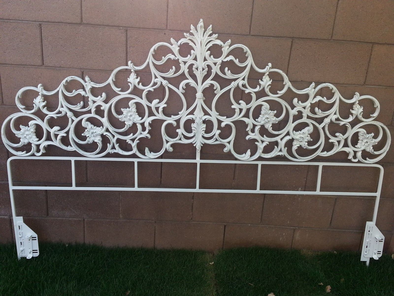 Welcome to Shabbylicious Chic!: SOLD! Vintage King Headboard, Iron ...