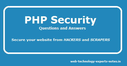PHP security questions and answers for experienced