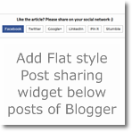 Post sharing widget below posts