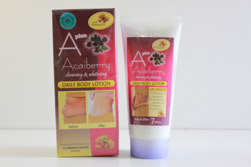 Acai berry lotion