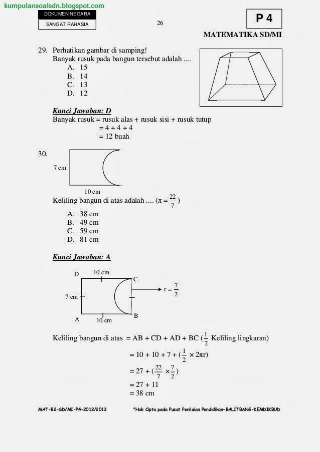 Kelas Soal Bahasa 6 Sd Jawa Soal Sd Paket Kumpulan 6 Try Us 2012 2013 4 Ta Sd Kelas Un Out Vi