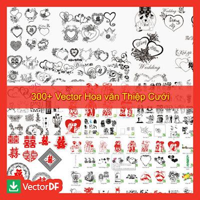 Vector Hoa văn Thiệp Cưới
