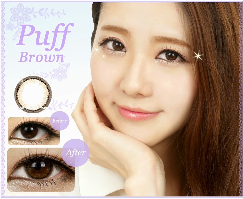 Puff Brown Contact Lenses  at ohmylens.com