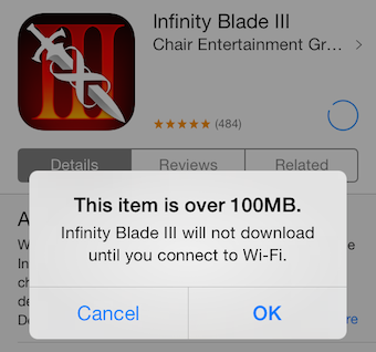 how to download 100mb apps without wifi