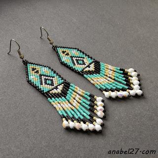 seed bead earrings - ethnic style jewelry