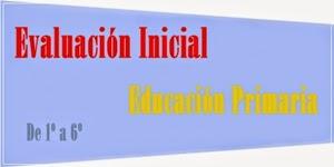 Evaluación inicial de Educación Primaria