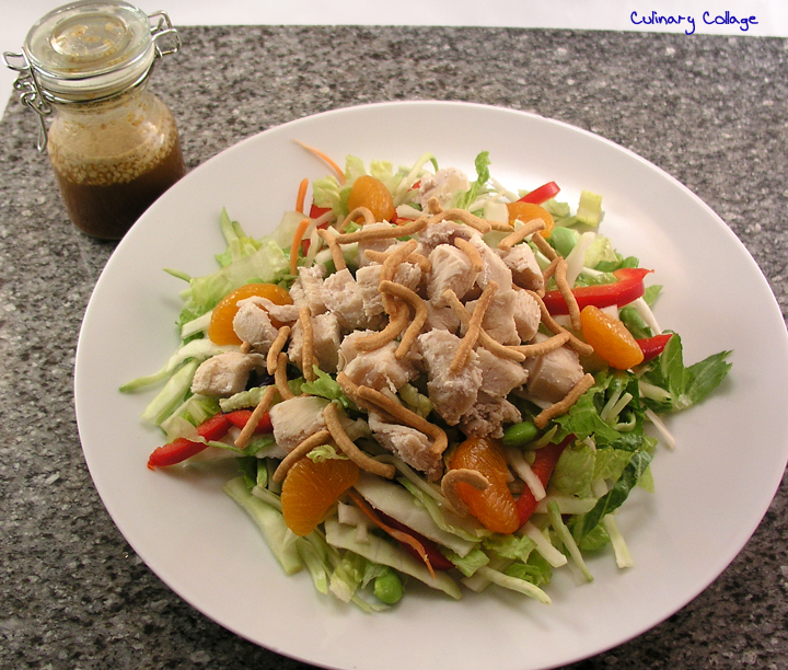 Culinary Collage: ASIAN CHICKEN SALAD WITH SESAME GINGER DRESSING