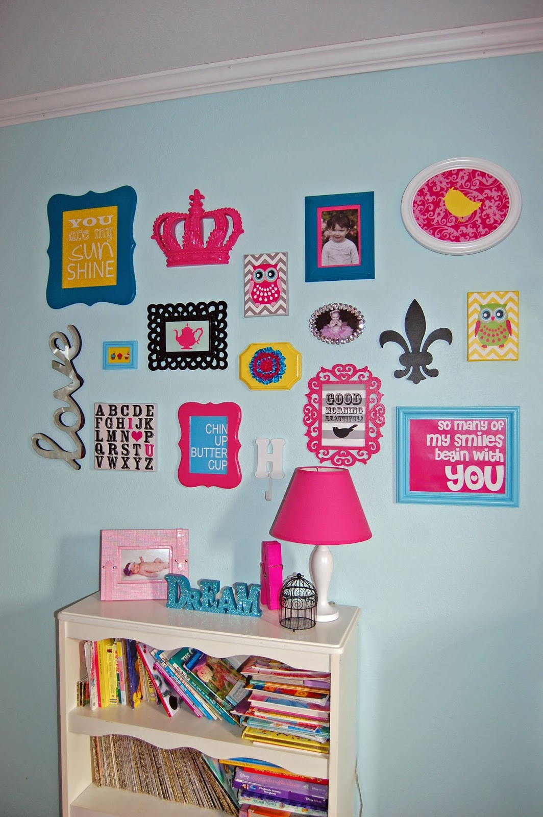 Pinkie for pink big girl bedroom reveal Cute bedroom wall ideas