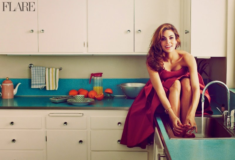 Eva Mendes for Flare Magazine, May 2014