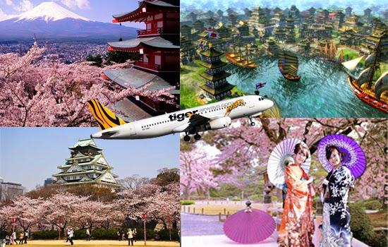 Bay cùng Tiger Airways đến xứ sở hoa anh đào Nhật Bản