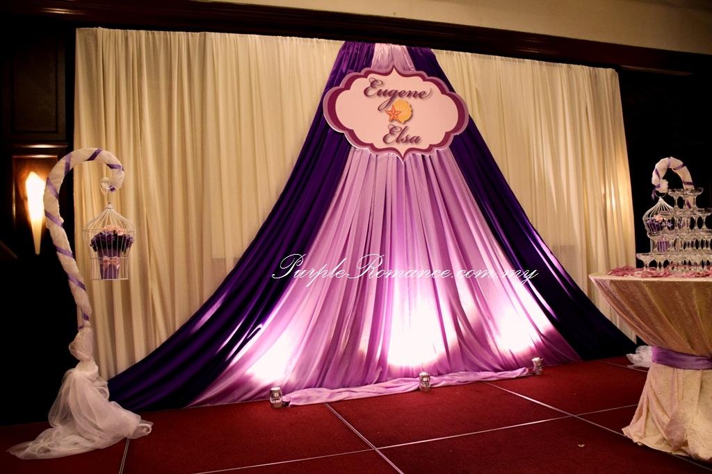 Wedding decoration at the saujana hotel kuala lumpur purple stage decoration backdrop decoration logo wedding event planning planner ballroom junglespirit Gallery