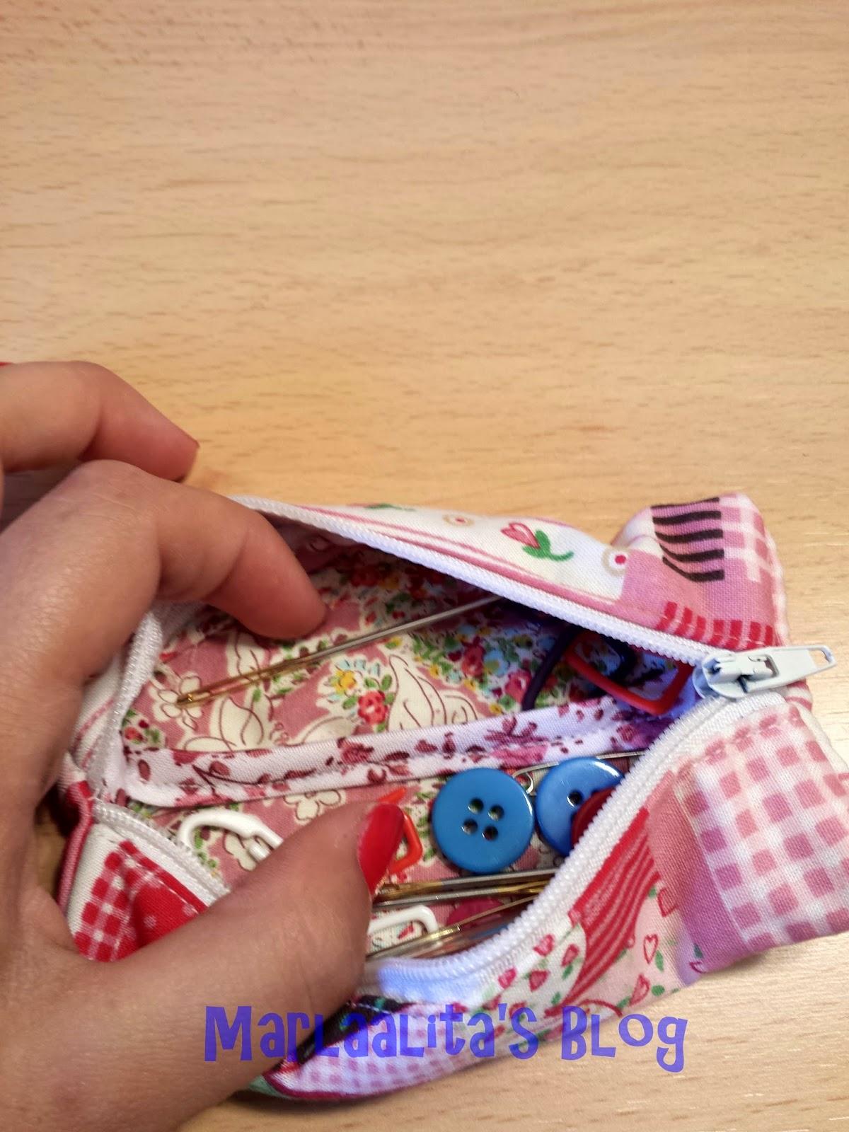monedero pequeño cremallera costura