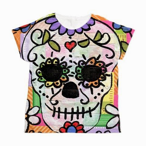 Day of the Dead printed t-shirt