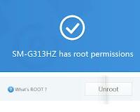 Root Samsung Galaxy V Sukses