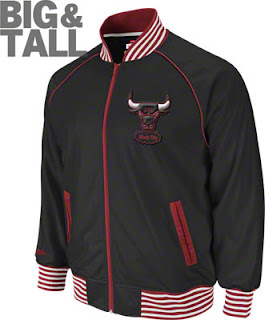 Big and Tall Chicago Bulls Mitchell and Ness Jacket