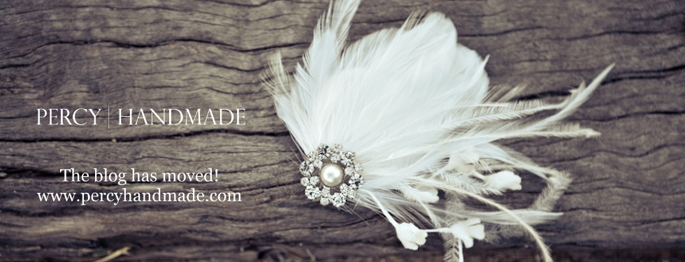 percy handmade :: handmade bridal hair pieces, fascinators and wedding accessories