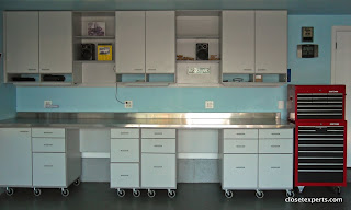 Garage cabinets with counter top