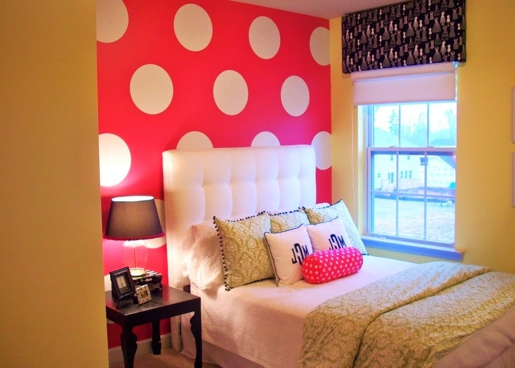 Girls bedroom ideas for Polka dot bedroom designs
