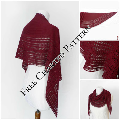 braid scarf shawl free knitting pattern
