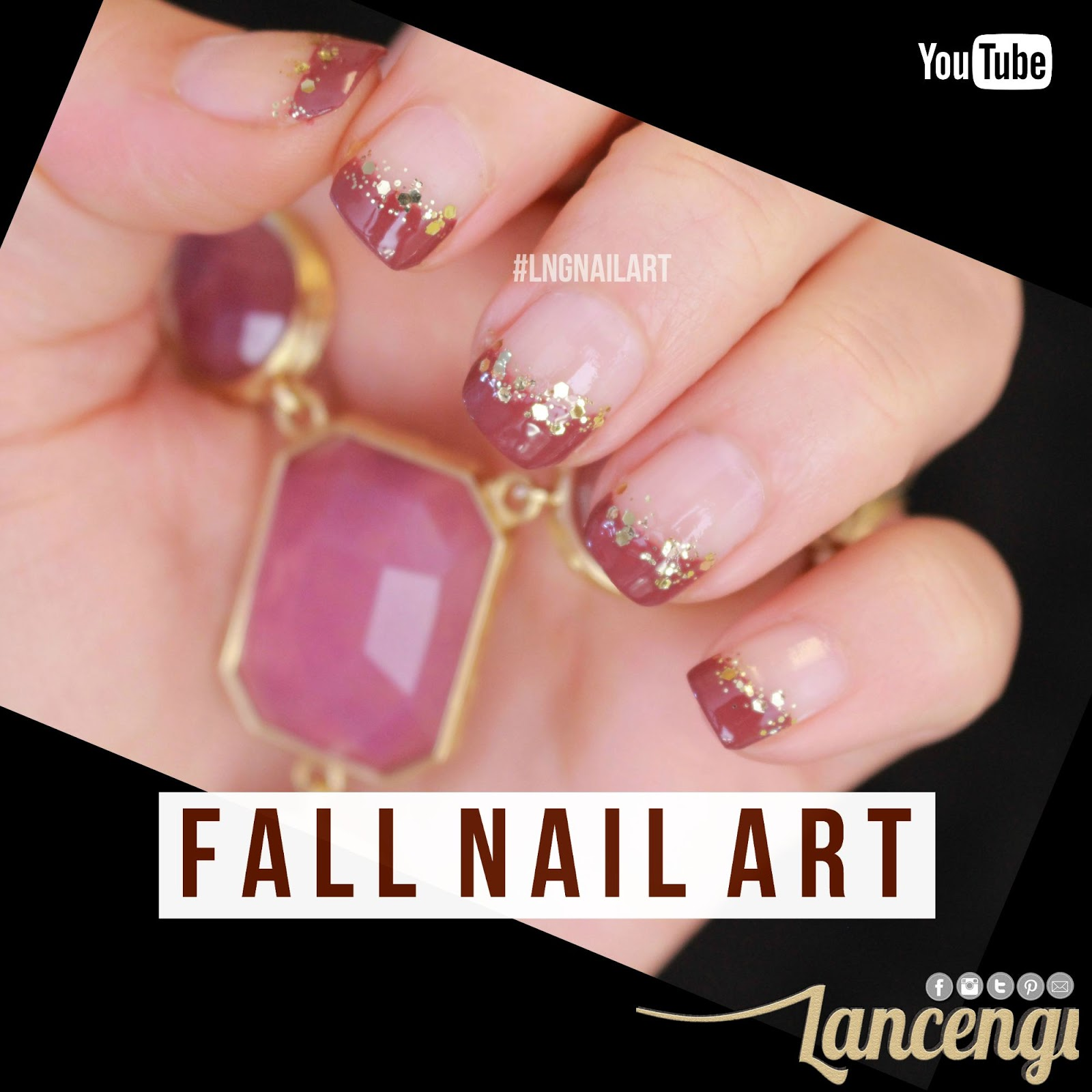 LancenGi: Easy Nail Art - Transitional Fall French Manicure + No Tools