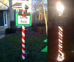 North pole yard decoration diy christmas for Homemade christmas yard signs