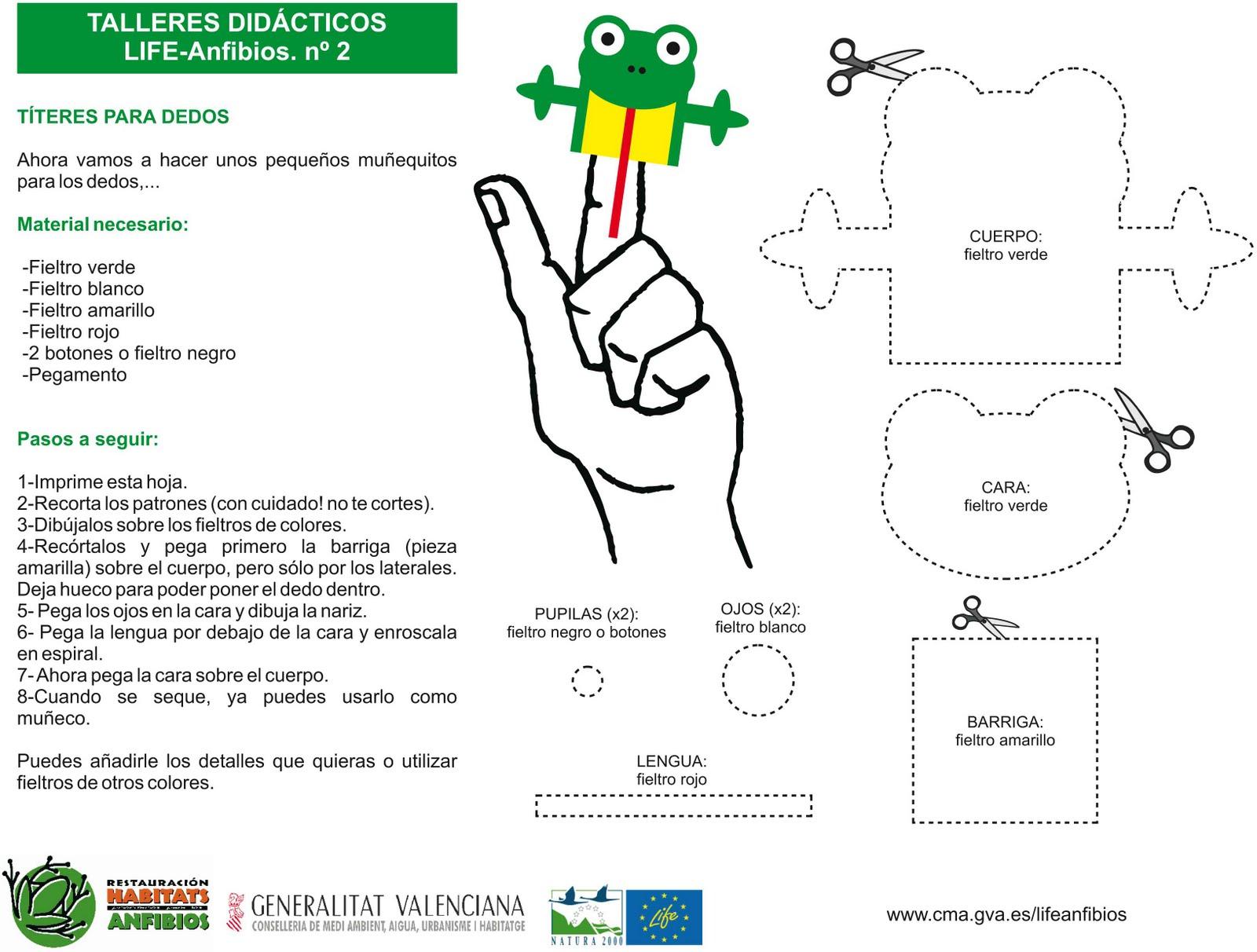 Único Plantillas De Títeres Para Los Dedos Elaboración - Colección ...