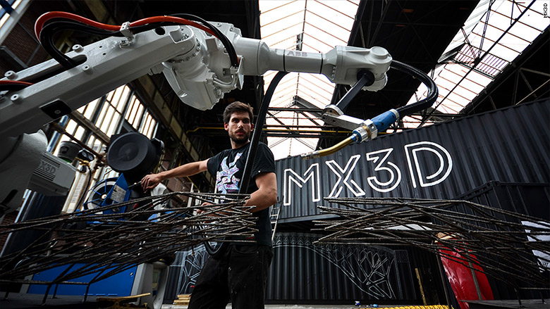 Robots to build bridge over an Amsterdam canal : Are robots taking over the world?