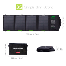 ALLPOWERS 16W Solar Panel Charger with iSolar Technology for Cell Phone, iphone, ipad, Samsung and Other Smartphones and Tablets