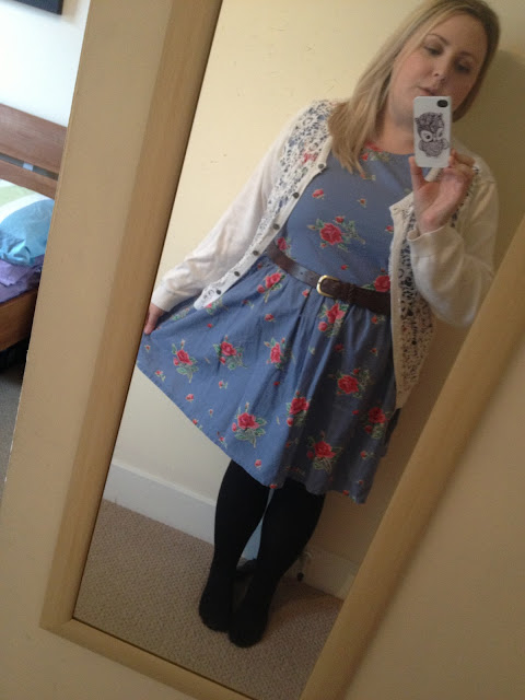 Primark Denim Floral Dress Outfit