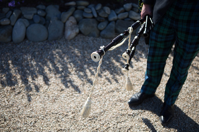 Wedding Photography Doonbeg Ireland, bagpiper