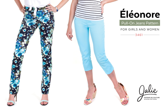 New Collection - The Éléonore Pull-On Jeans