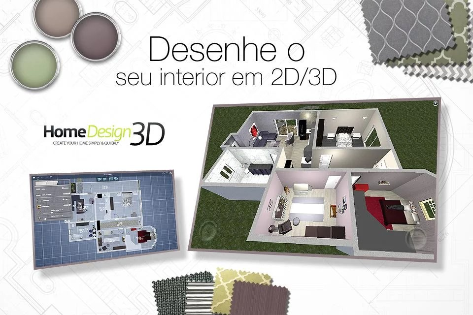 Home Design 3D   FREEMIUM V3.1.3 (Mod/Desbloqueado) Apk+Data