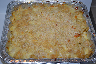 finished baked crawfish mac and cheese |Cordier Crawfish Mac Recipe