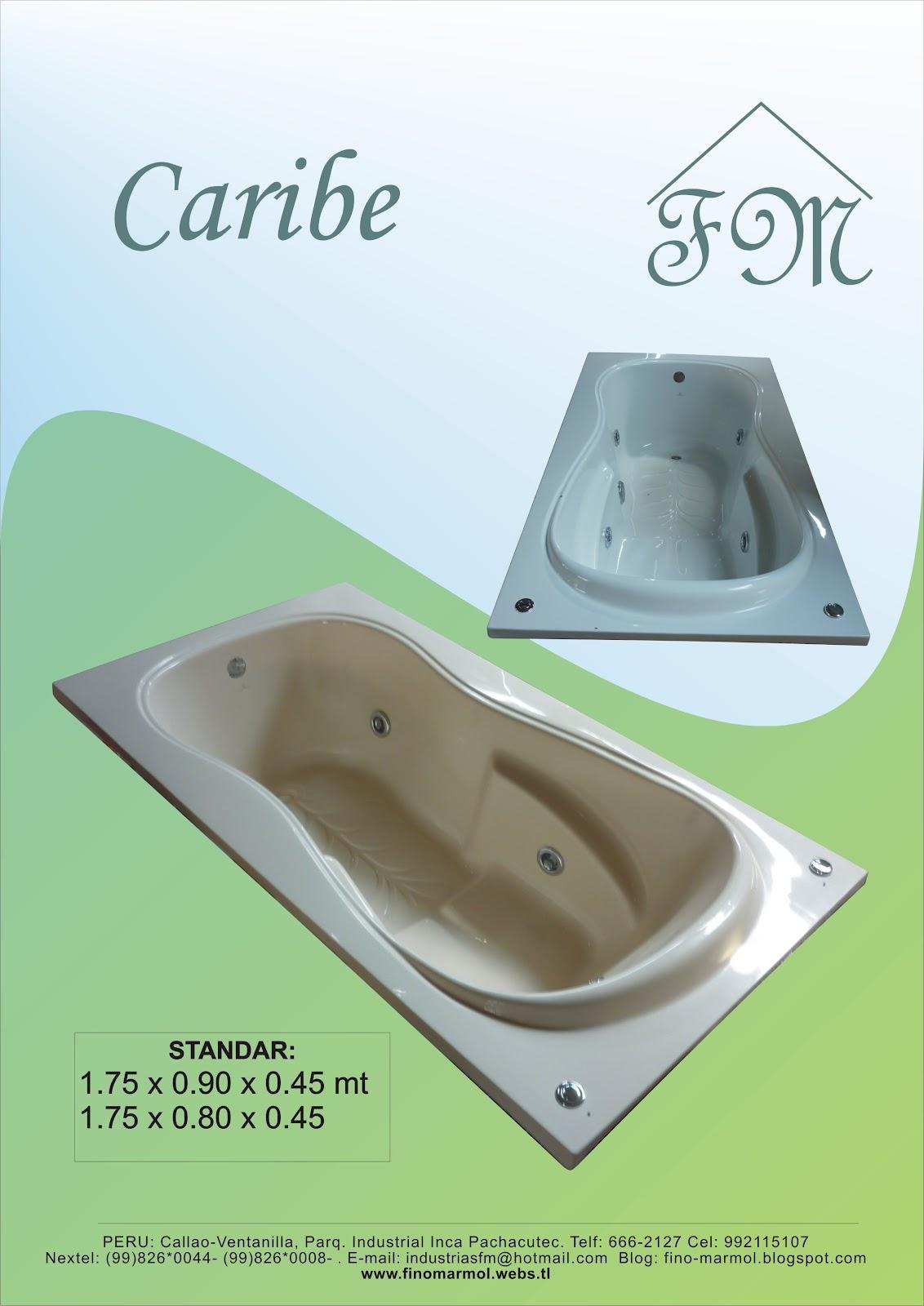 Medidas De Un Baño Con Tina:Tina de Baño Caribe FM medidas:
