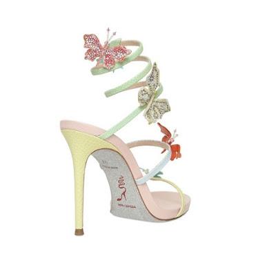 Rene Caovilla Butterfly high heeled Sandals