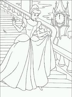 Dibujos de Cenicienta para Pintar, parte 1