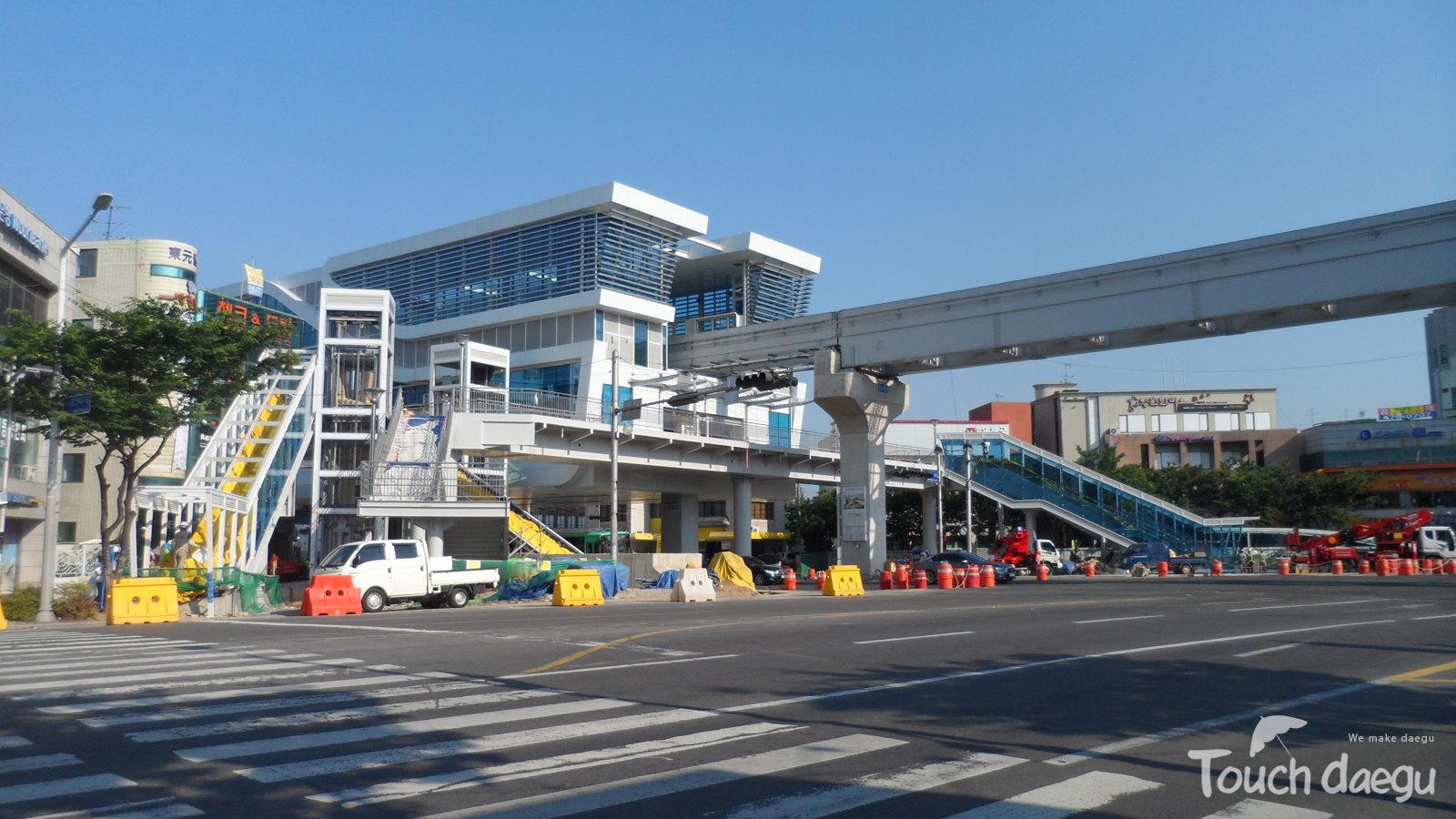 The transfer station of line 3, Myeongdeok station