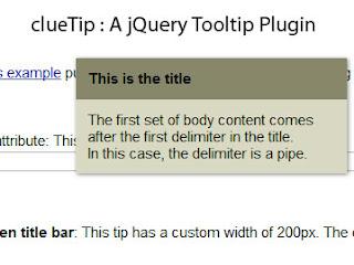 clueTip: A jQuery Tooltip Plugin